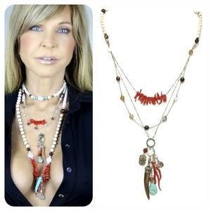 Kinley SS Beachy Multi Strand Necklace